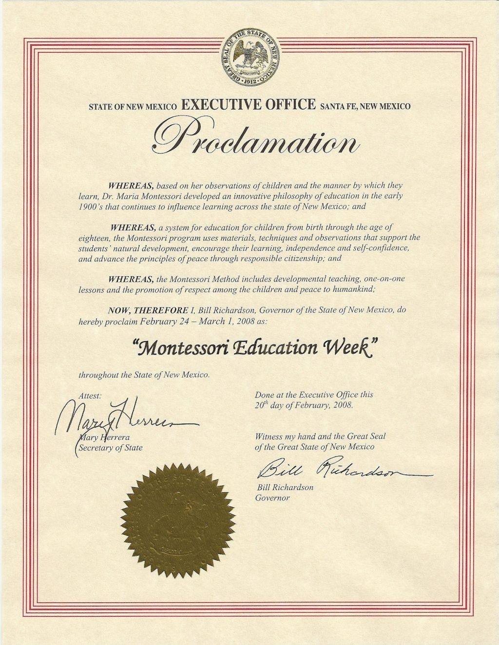New mexico proclamation xflitez Image collections